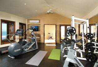 Fully equiped workout room.