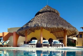 Large Palapa covered terrace.