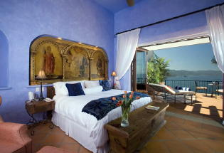 Master suite with King bed and view of Bay.
