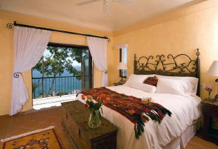 King size suite with view of Bay.