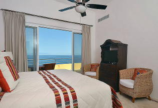 Nicely furnished Upper level 5th Bedroom with view of Bay.