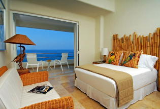 Guest suite with view of Bay.
