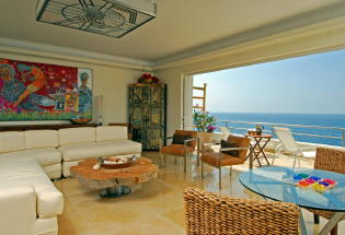 Beautiful View of Banderas Bay from living room.