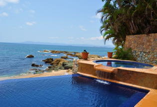 Beautiful View of Banderas Bay from Infinity pool and Jacuzzi.