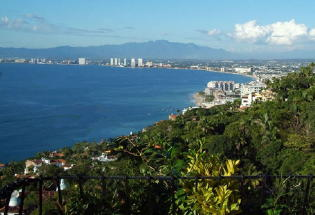Fantastic view of Banderas Bay and Puerto Vallarta.